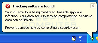 Tracking software found alert