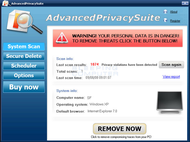AdvancedPrivacySuite screen shot