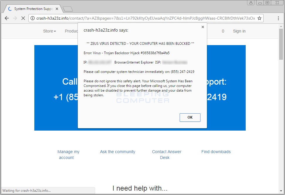 Tech Support Scam Advertisement