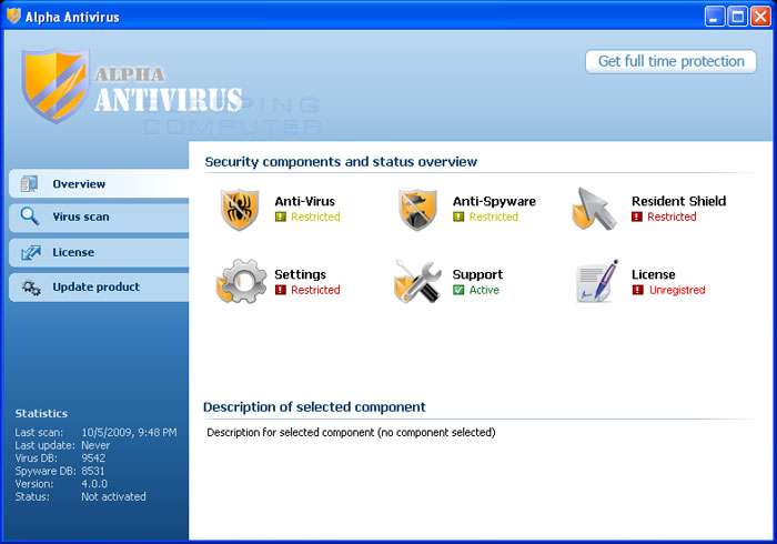 Alpha Antivirus screenshot