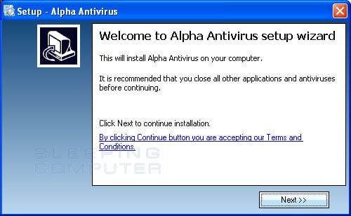 Installer for Alpha Antivirus