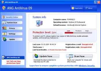 ANG AntiVirus 09 Image