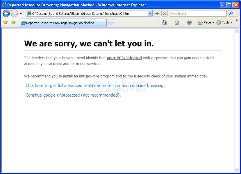 Internet Explorer Hijack #2
