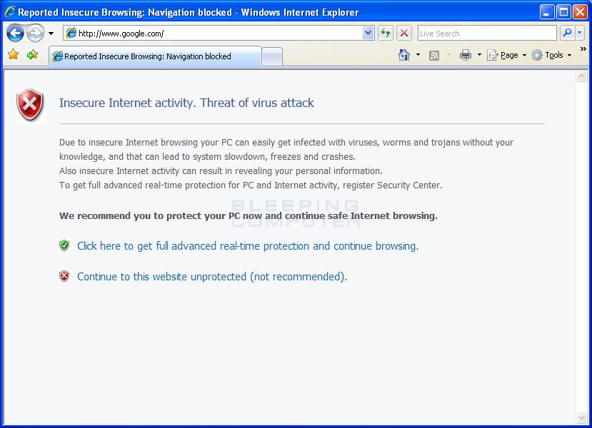 Internet Explorer Hijack #3