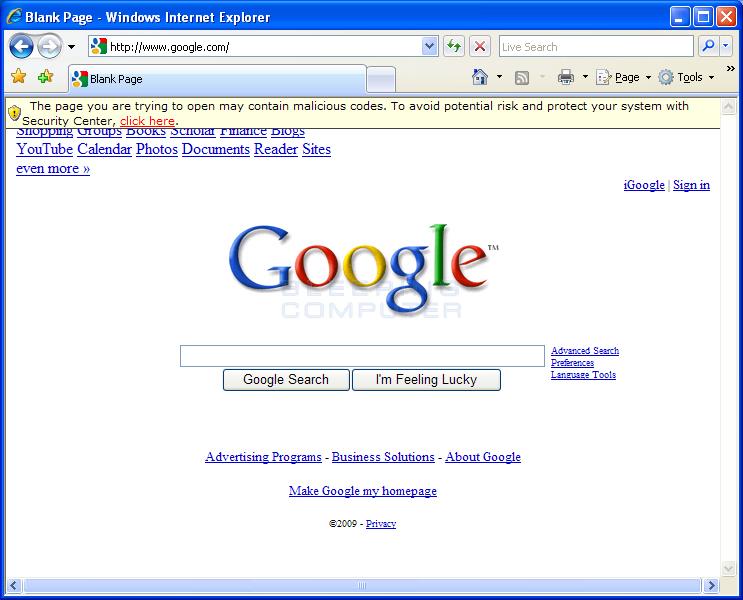 Internet Explorer Hijack #1
