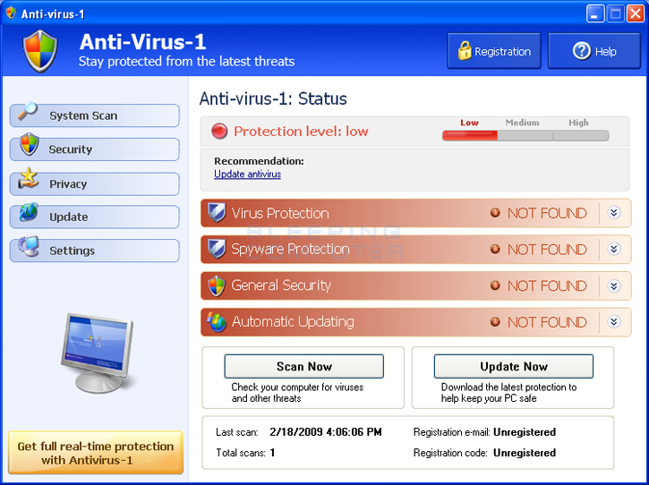 Anti-virus-1 screen shot