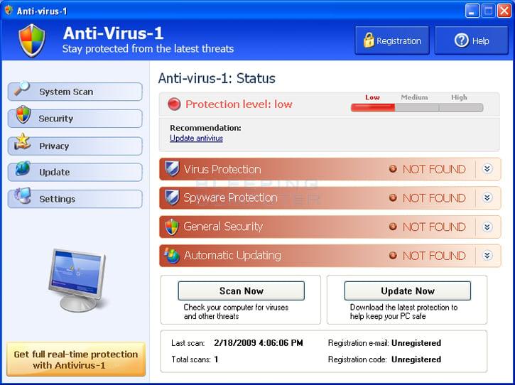 Anti-virus-1 screen shot