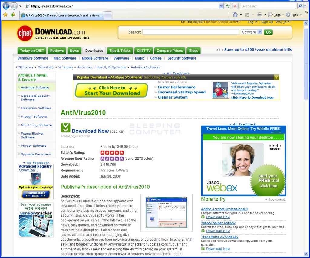 Fake Download.com Review