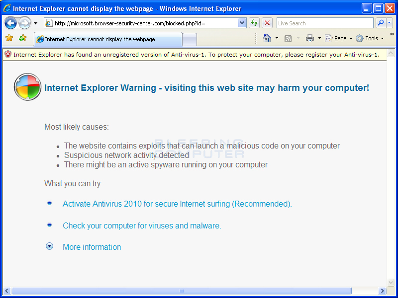 Internet Explorer Hijack #2