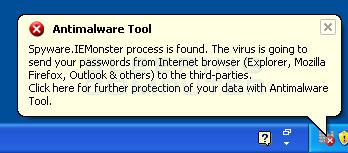 Antimalware Tool Warning