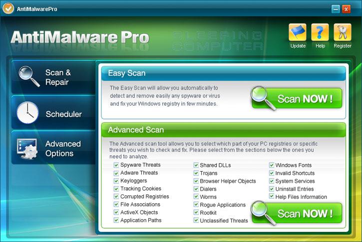 AntiMalwarePro Screen shot