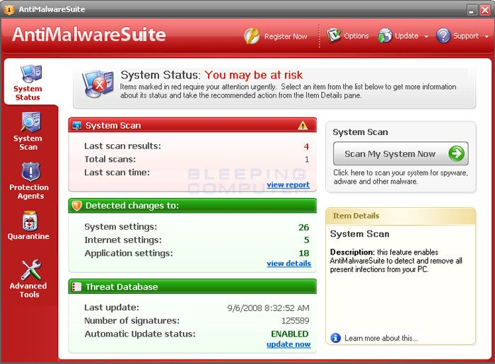 AntiMalwareSuite screen shot
