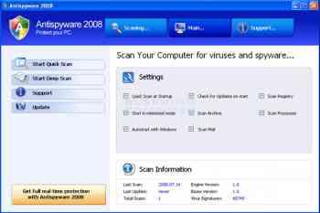 AntiSpyware 2008 Image