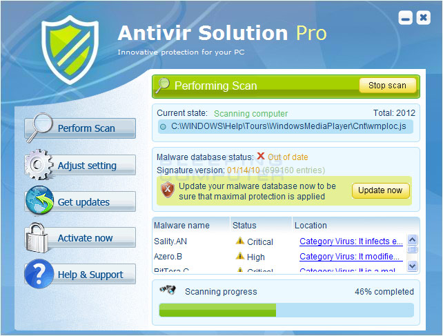 Antivir Solution Pro screen shot