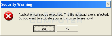 Infection warning alert