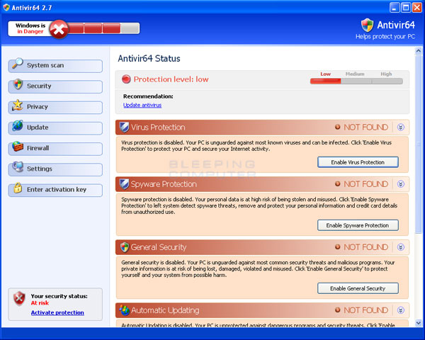 Antivir64 screen shot
