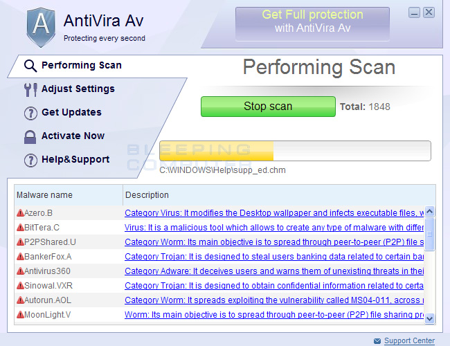 AntiVira Av screen shot