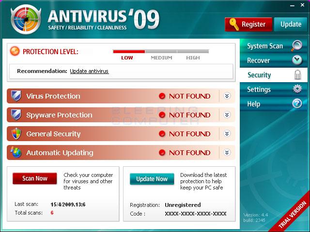 The Antivirus'09 Program