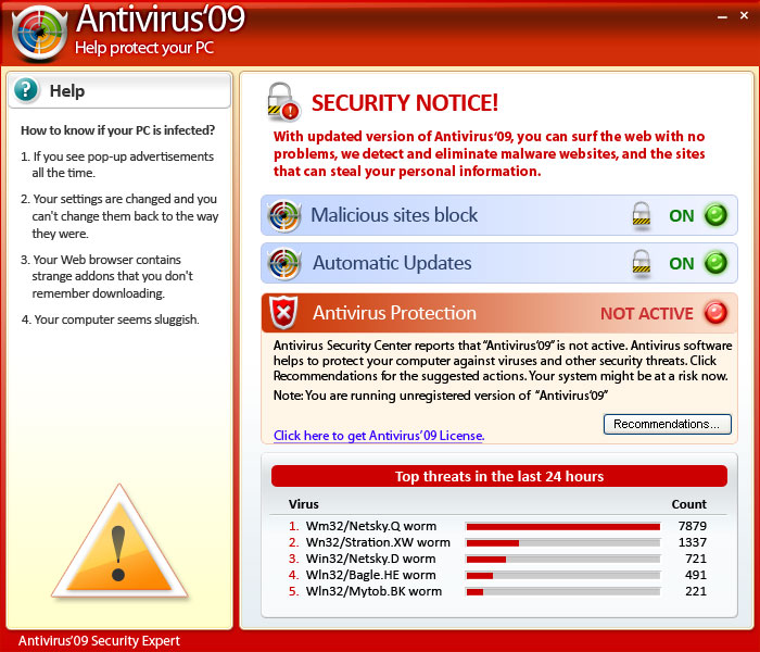 Antivirus'09 Security Center