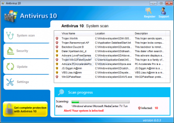 Antivirus 10 Screenshot