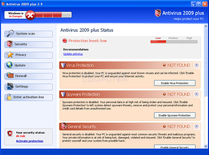 Antivirus 2009 Plus screen shot