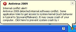 Fake alert #2 created by Antivirus 2009