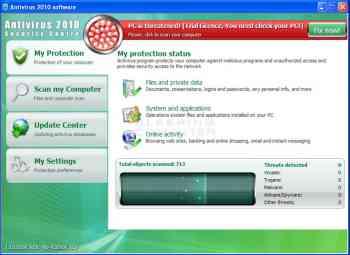 Antivirus 2010 Security Centre Image