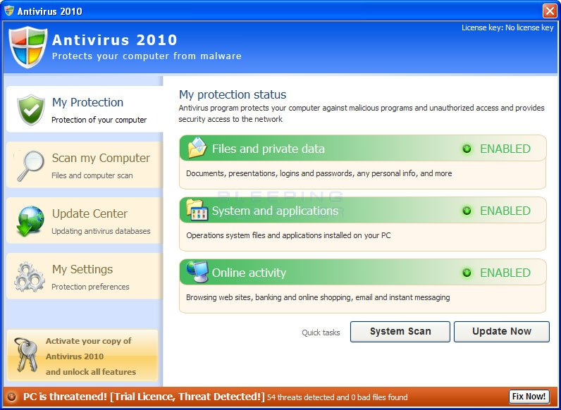 Antivirus 2010 Screen shot