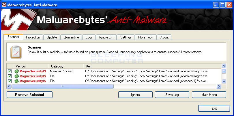 Clean & Remove Antivirus Action Malware