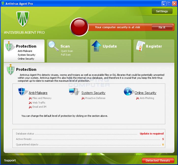 Antivirus Agent Pro screen shot