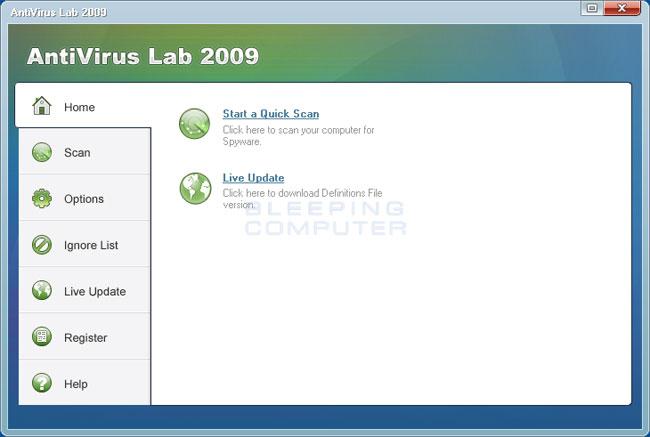 Antivirus Lab 2009 screen shot