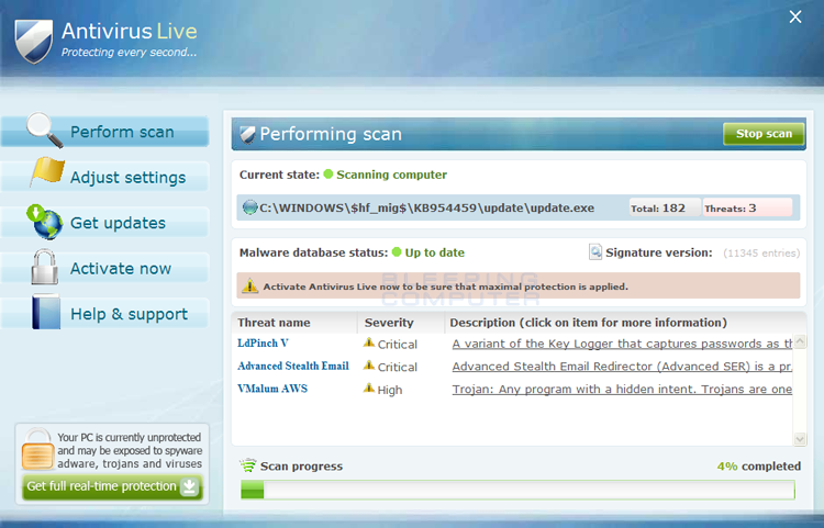 Antivirus Live screen shot