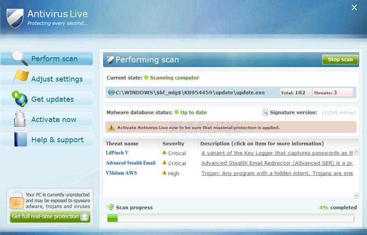 Antivirus Live screen shot