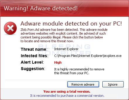 Fake Adware Module Alert