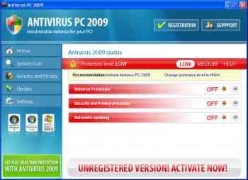 Antivirus PC 2009 Image