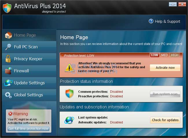 AntiVirus Plus 2014 Screen Shot