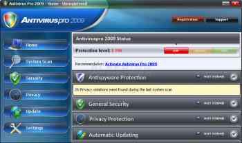Antivirus Pro 2009 Image