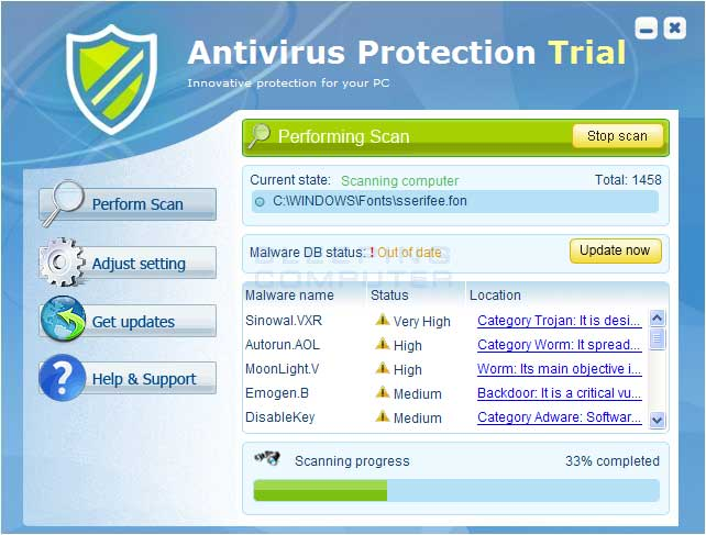 Antivirus Protection screen shot