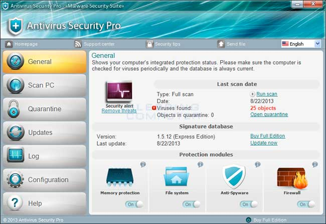 Antivirus Security Pro screen shot