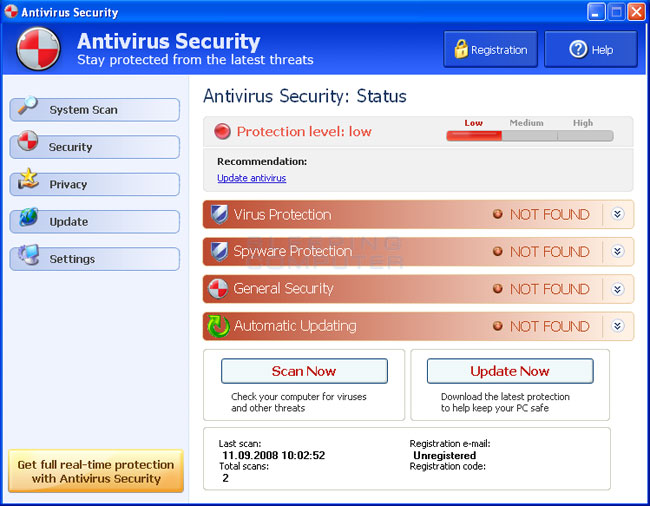 Antivirus Security screen shot