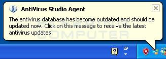 Antivirus Studio Agent alert