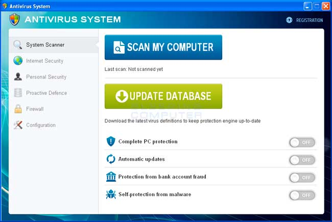 Antivirus System screen shot