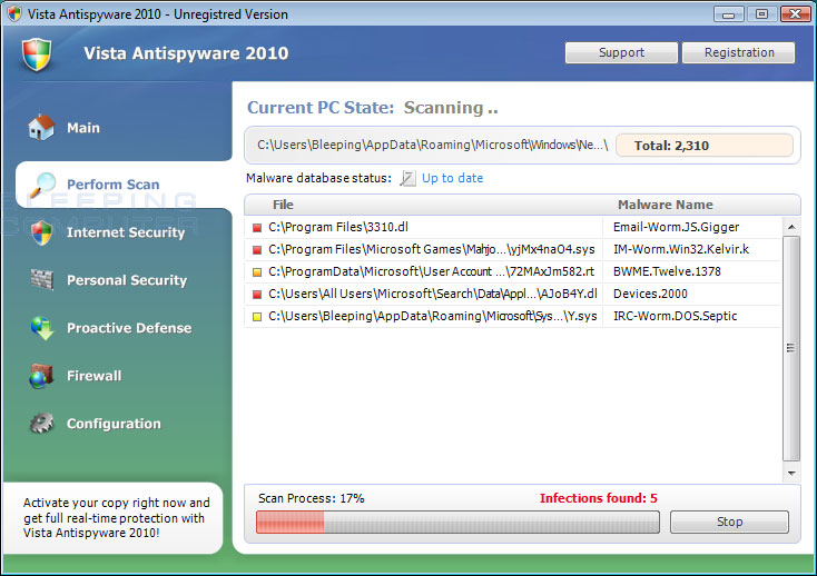 Vista Antispyware 2010