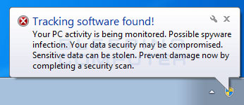 Fake Windows 7 security warning