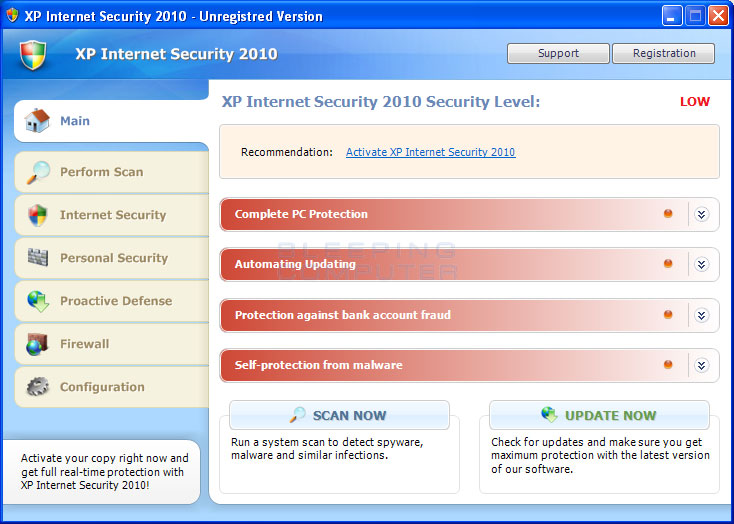 XP Internet Security 2010