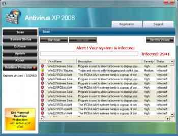 Antivirus XP 2008 Image