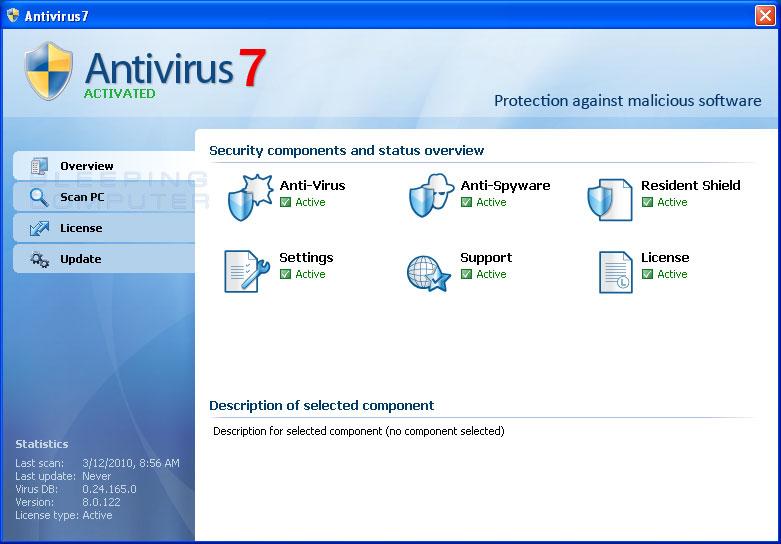 Antivirus7 screen shot