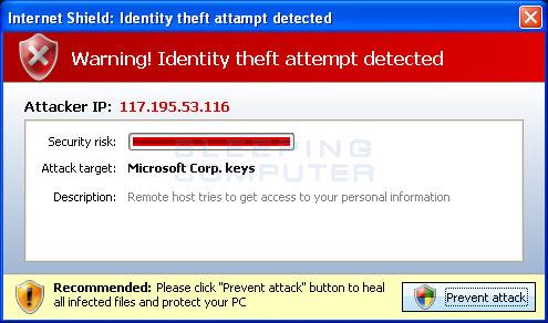 Identity Theft Warning