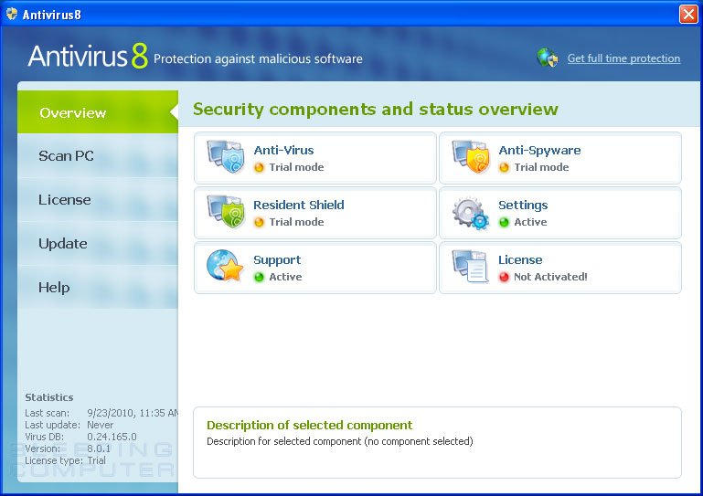 Antivirus8 screen shot