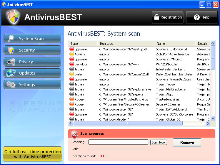 AntivirusBest Screen shot